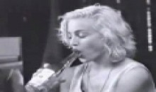 madonna with bottle